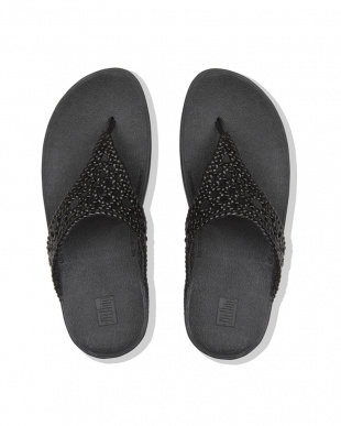 Black LOTTIE WICKER TOE-THONGSを見る