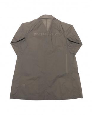チャコール PACKABLE TRANSPARENT LONG COATバックロゴ パッカブル ロングコートを見る