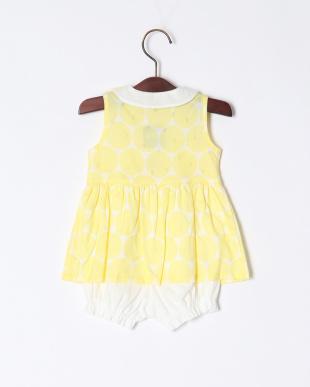 レモンイエロ- 透かしドットスカート付きショ-トオールを見る