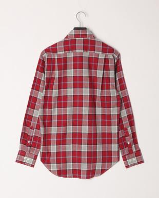 ローズ ヘリンボンチェック柄BDシャツを見る