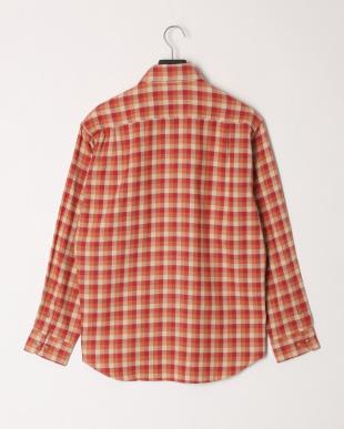 レッド 微起毛ヘリンボン格子BDシャツを見る