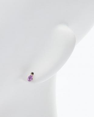 パープル K10YGアメシストピアス 2月誕生石を見る