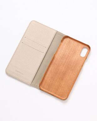 ベージュ×ゴールド METEOR(ミティアー)ベージュ×ゴールド iPhoneX/XS 兼用フランスレザー 木製ケースを見る