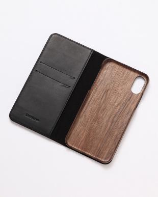 ブラック PEBBLY(ぺブリー)ブラック iPhoneX/XS 兼用イタリアレザー 木製ケースを見る