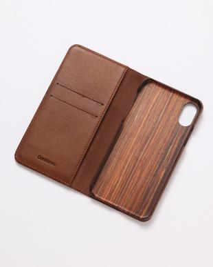 ブラウン PEBBLY(ぺブリー)ブラウン iPhoneX/XS 兼用イタリアレザー 木製ケースを見る