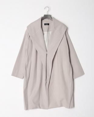 Lグレー ウールビーバーゆったりコートを見る