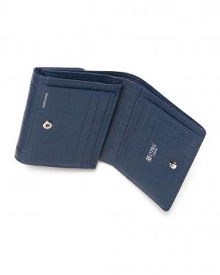 ネイビー 二つ折り財布(外小銭入れ付財布)を見る