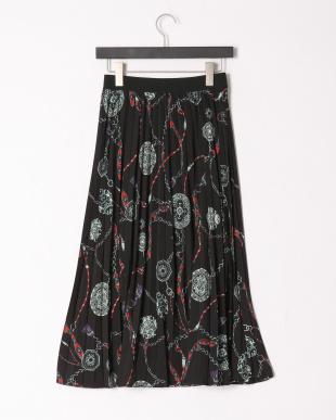 クロ系 プリントスカートを見る