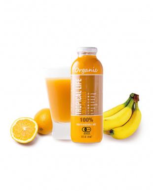 オーガニックのオレンジ色のフルーツとココナッツが香る有機コールドプレスジュース 「トロピカルライフ」 2本セットを見る