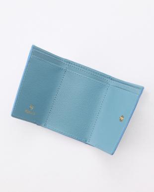 ブルーグレー 角シボ型押し・三つ折りミニ財布 COLORATO コロラートを見る