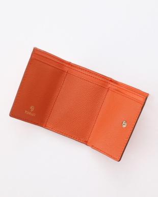 オレンジ 角シボ型押し・三つ折りミニ財布 COLORATO コロラートを見る