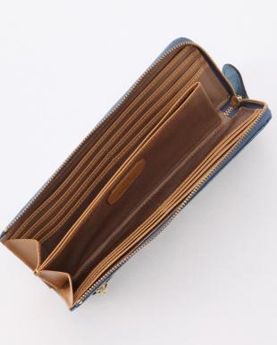 ブルーグレー エナメルクロコ型押し・Lファスナーマチ付き長財布 COCCO VERNICE コッコ ベルニーチェを見る