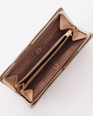 グレージュ イタリアンレザー・リザード型押し・がま口長財布 LUCIA ルチアを見る