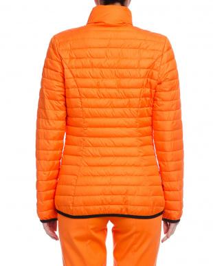 オレンジ ダブルジップ 中綿入ジャケットを見る