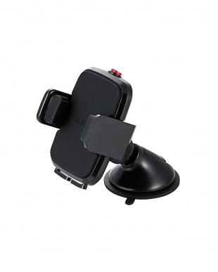 ブラック 「車載スマホスタンド」 ゲル吸盤タイプ/縦置き・横置き対応を見る
