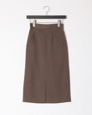 D/ブラウン ウールライクイージータイトスカートを見る