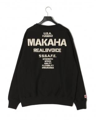 BLACK MAKAHA STENCIL CREW SWEAT T-SHIRTを見る