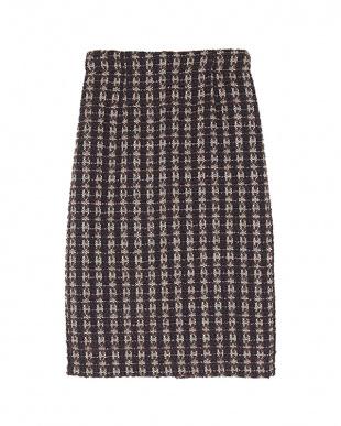 ブラウン ツイードタイトスカートを見る