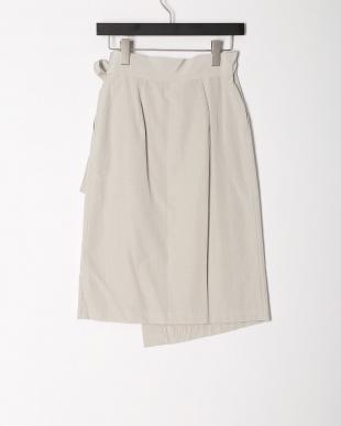 グレー ラップベルテッドスカートを見る