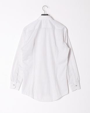 グレー 【イージーケア】ジャージーストライプボタンダウンシャツを見る
