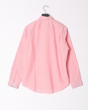 ピンク ハイブリッドリネンミックスシャツを見る
