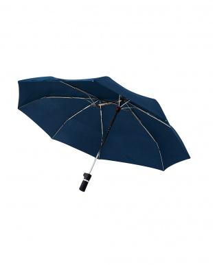 ネイビー 軸をずらした傘 Sharely(シェアリー) 折り畳み傘 撥水加工を見る