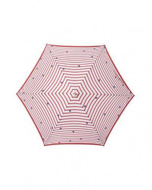 ボーダーレッド moz×mabu UVカットスリムジャンプ傘を見る