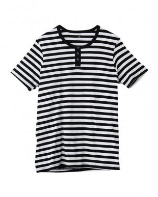 ブラック ヘンリーネックTシャツ×3セットを見る