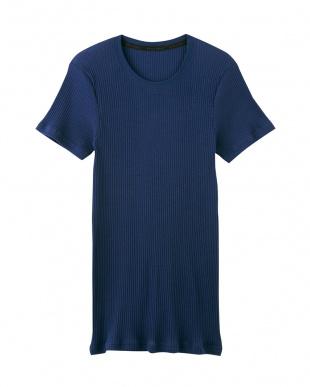 ネービーブルー クルーネックTシャツ×2セットを見る