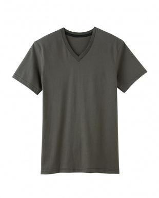 オリーブ VネックTシャツ×2セットを見る