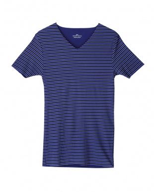 ネービーブルー VネックTシャツ×2セットを見る