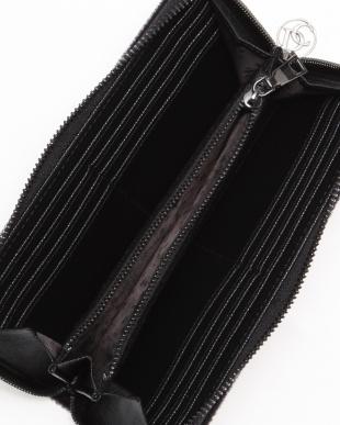 black ベルクロラウンドジップ財布を見る