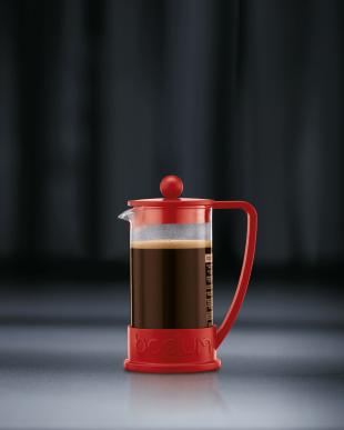 レッド ブラジル フレンチプレスコーヒーメーカー 350mLを見る