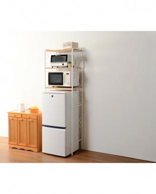 ホワイト 冷蔵庫ラックを見る
