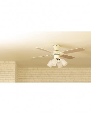 ホワイト Modern Collectionシーリングファン 4灯を見る