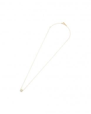 イエローゴールド K18YG×ダイヤモンド(0.09ct)ネックレスを見る
