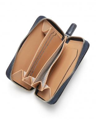 ネイビー ホースレザー ラウンドジップ  財布を見る