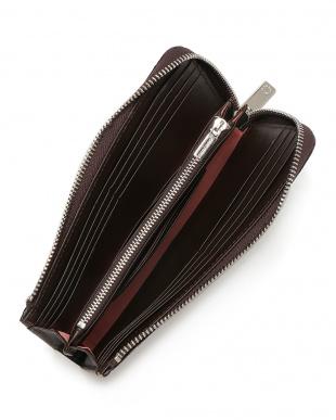 ダークブラウン クロコダイルレザー ジップ 長財布を見る