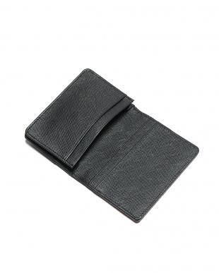 レッド/ブラック クロコダイル革 型押しレザー カードケースを見る