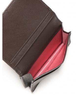 ダークブラウン クロコダイル革 型押しレザー カードケースを見る