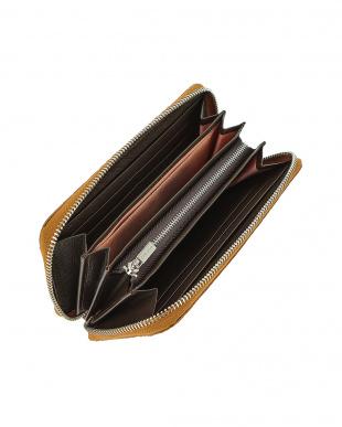 イエローティー クロコダイルレザー ラウンドジップ 長財布を見る
