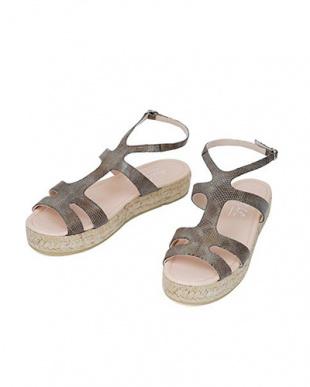 ブロンズ 「tredi Chic」03-platform sandals/embossedを見る