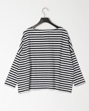 YB01/WHITEXBLACK BIG BOATNECK SLITを見る