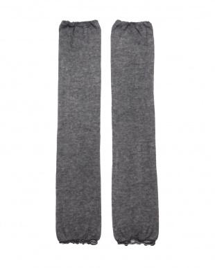 ブラック×2 かぜまとうふんわりガーゼのアーム&レッグウォーマーロングタイプ2足セットを見る