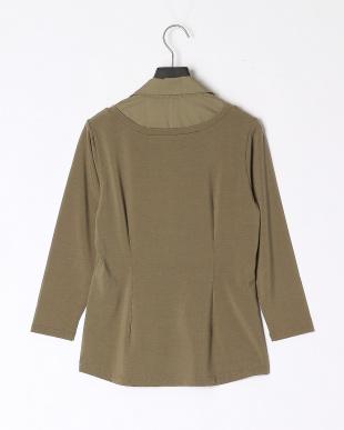 48/緑系A(カーキ) AN コラーゲンドッキングシャツプを見る