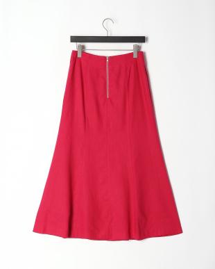 PINK リネン混ロングスカートを見る