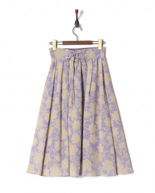 PU オリジナル単色フラワースカートを見る