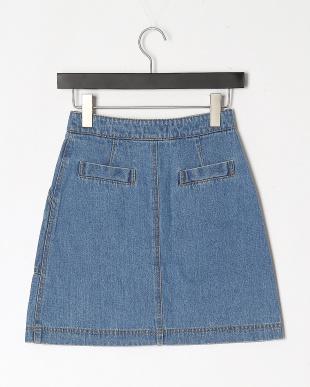 BL デニムミニ台形スカートを見る