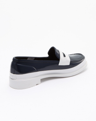 NAVY/WHITE W REF CNTRST PENNY LOAFERS GLSを見る