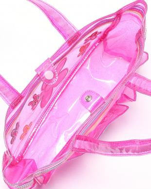 ピンク ビーチバッグを見る